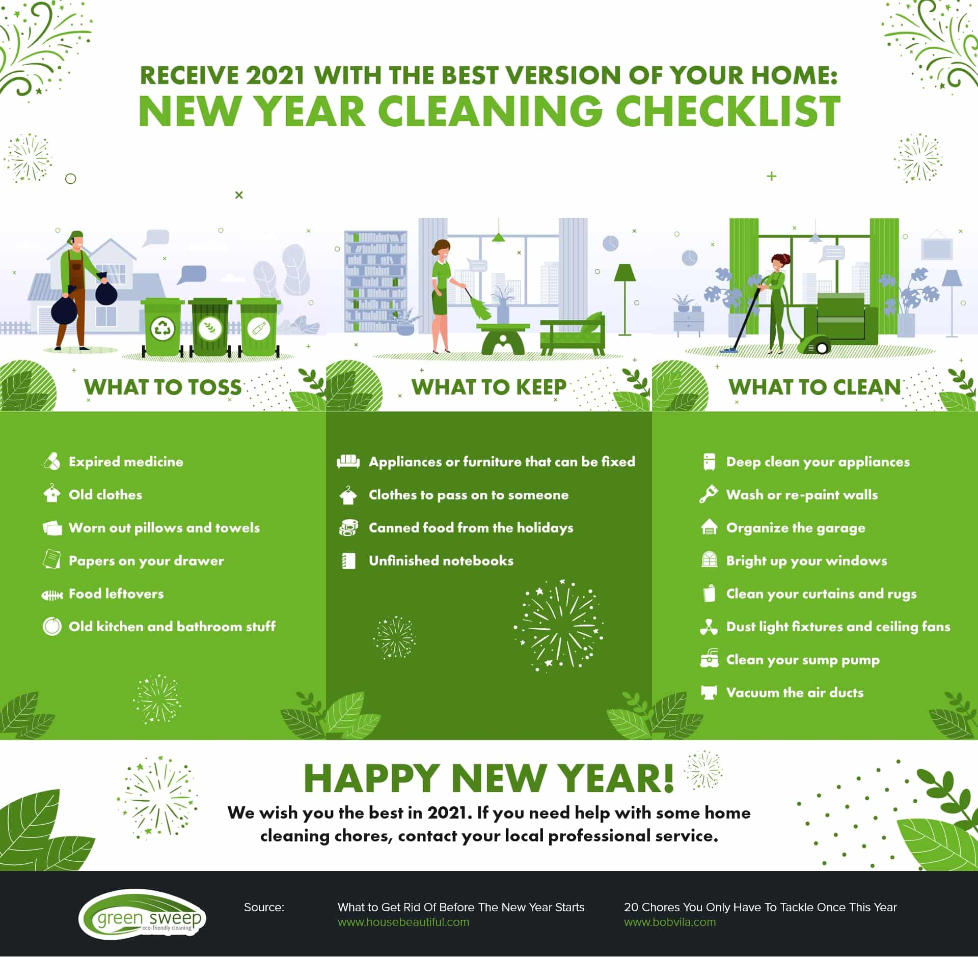 New Year Cleaning Checklist