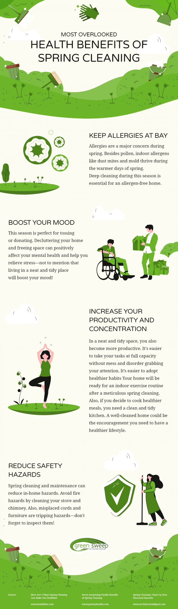 Health Benefits Of Spring Cleaning
